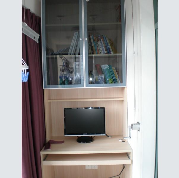 阳台书桌小书柜 展开计算 铝框周长算